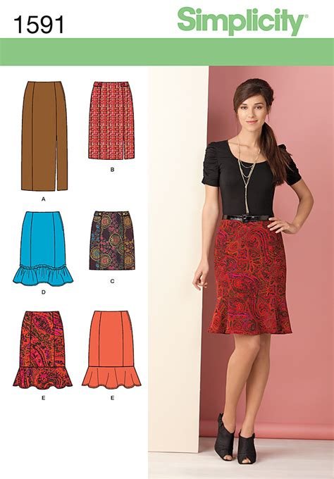 sewing pattern review forum simplicity 1591 misses skirts