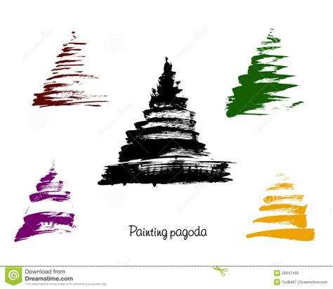 stock vector graphics royalty free vectors vector pagoda illustration royalty free stock images image 26947459