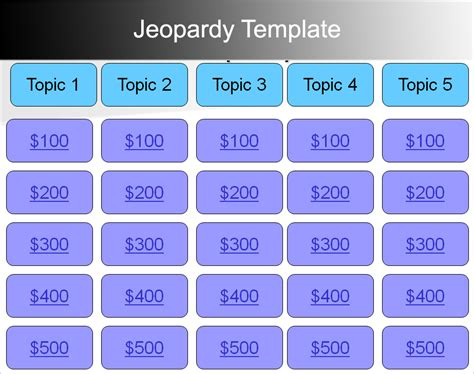 7 Jeopardy Powerpoint Templates Free Ppt Designs Jeopardy Template With