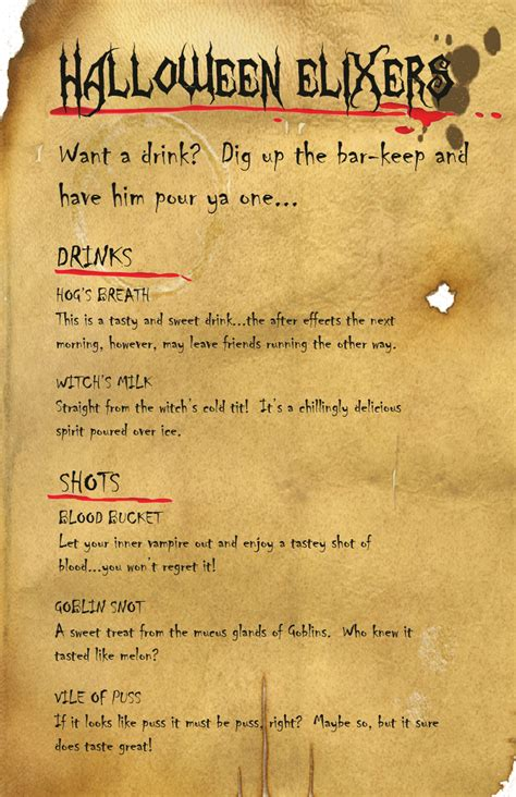 halloween drink names halloween drink menu by benjamintdickens on deviantart