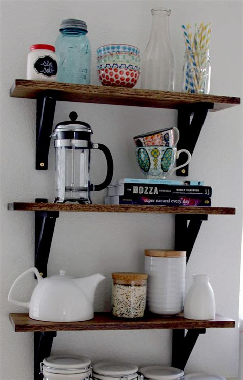 diy kitchen shelves the style eater