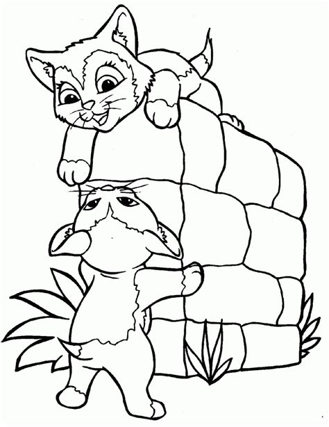 coloring pages cute kittens free printable cat coloring pages for kids
