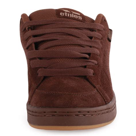 etnies kingpin mens suede brown skate trainers new shoes