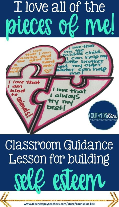 school counseling lessons 25 best ideas about self esteem crafts on