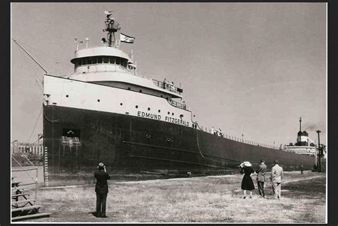 Largest Ship To Sink In The Great Lakes by The Edmund Fitzgerald Largest Freighter On The Great