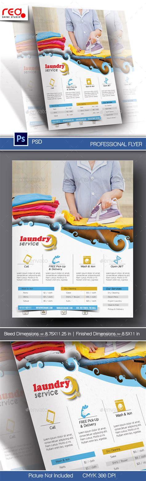 flyer template laundry laundry service flyer poster template by redshinestudio