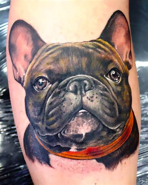 realistic bulldog tattoo idea