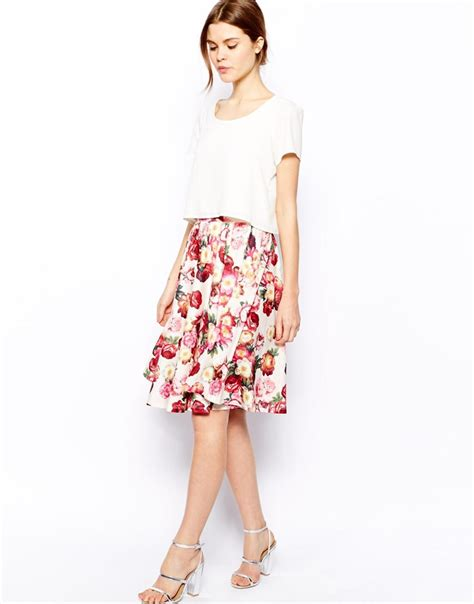 floral printed midi skirt collection 14 outfit4girls