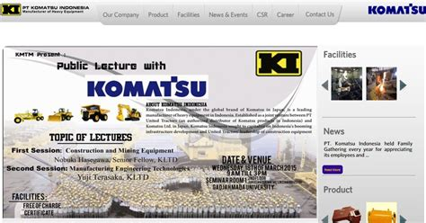 career with komatsu indonesia receptionist position