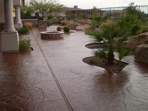 simple stained concrete patio how to clean stained