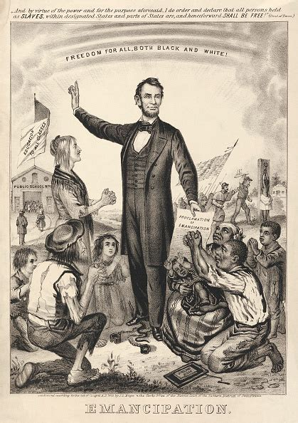 lincoln freeing the slaves freedom for all both black and white honoring abraham
