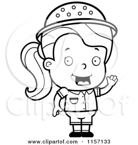 safari person coloring page royalty free rf safari girl clipart illustrations