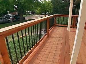 Custom Porch Railings How To Repair How To Custom Build A Deck Railing How