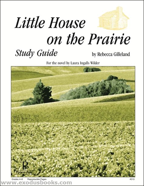 House On The Prairie Books by House On The Prairie Progeny Press Study Guide
