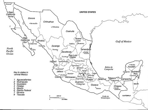 coloring page mexico map coloring map of mexico coloring pages