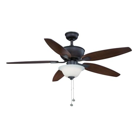 integrated led ceiling fan hton bay carrolton ii 52 in integrated led indoor oil