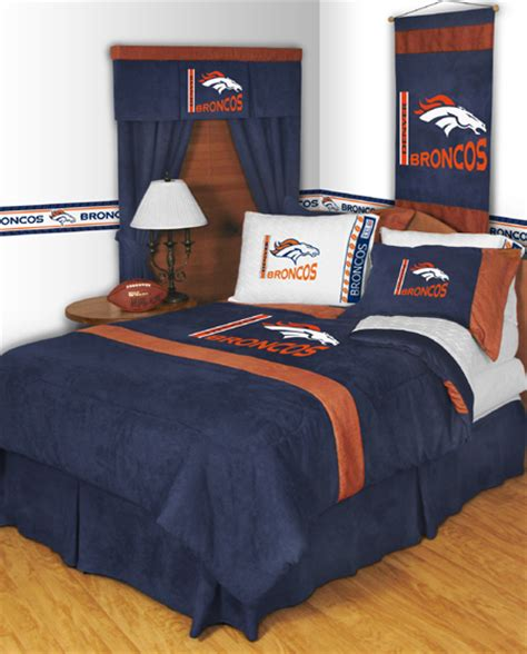 denver broncos bedroom nfl denver broncos mvp bedding set