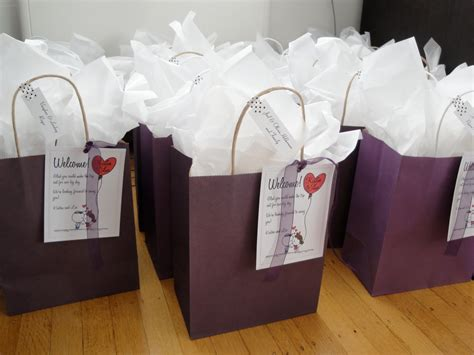 dinner guest gift diy welcome bags for out of town guests wedding