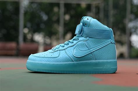light blue high tops 2015 nike air 1 high tops sneakers light blue
