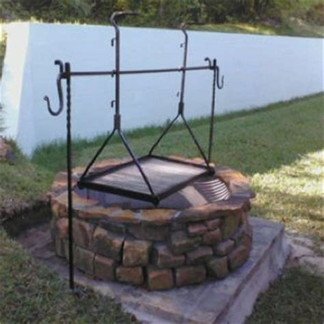 diy pit tripod grill pit grill and tripod in place blacksmith
