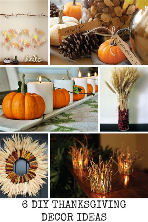 diy thanksgiving decorations 6 diy thanksgiving decor ideas spark