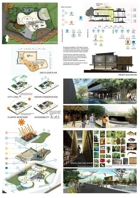 layout poster arsitektur international tropical architecture design competition