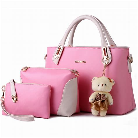 Fashion Bags Set 3in1 new 2016 eleganci handbags pu leather designer bags bags 3 in 1 handbag messenger
