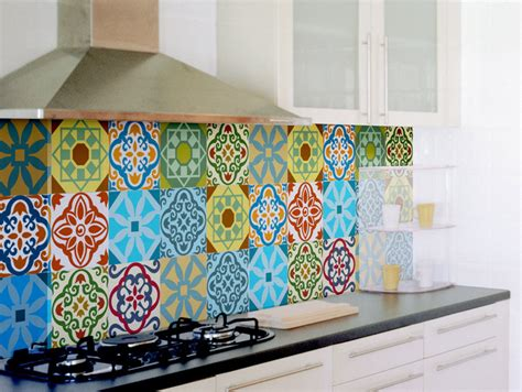Kitchen Backsplash Tile Stickers by Tile Decals Set Of 15 Tile Stickers For Kitchen Backsplash