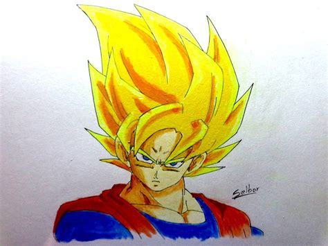 imagenes de goku mamonas c 243 mo dibujar a goku ssj dragon ball z selbor youtube