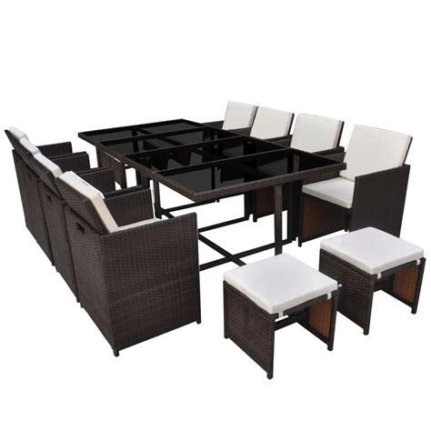 set tavolo e sedie rattan vidaxl set tavolo e sedie da pranzo per esterni 33 pz
