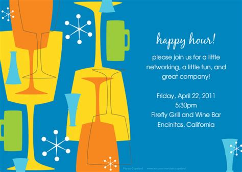 Happy Hour Online Invitations Cards By Pingg Com Free Happy Hour Invitation Template