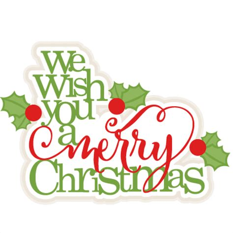 merry christmas titles we wish you a merry scrapbook title cut outs for cricut svg cut files