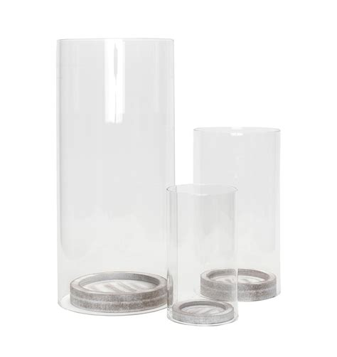 glas kerzenhalter set 6tlg windlicht set glas s 228 ulen kerzenhalter glasfackel