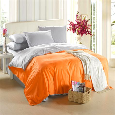 queen size comforter cover orange silver grey bedding set king size queen quilt doona