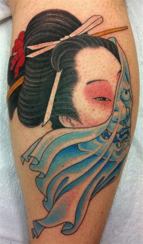 tattoo geisha mask 40 best images about tattoo artist chris garver on