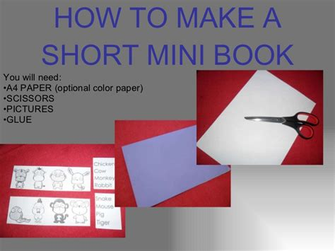 How To Make A Paper Slide - how to make a mini book