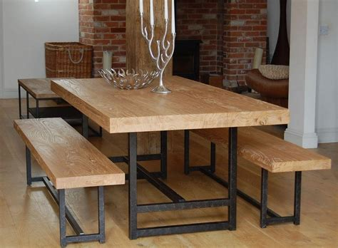 dining room table with benches modern bench style dining table set ideas homesfeed