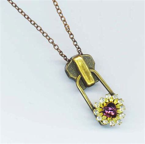 I Found A Zipper Necklace For by Metal Zipper Pendant Large Zipper Necklace Brass
