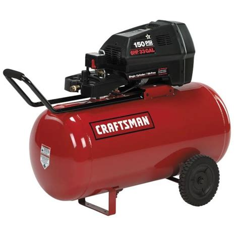 craftsman 16734 33 gal air compressor 2 hp horizontal tank free sears outlet