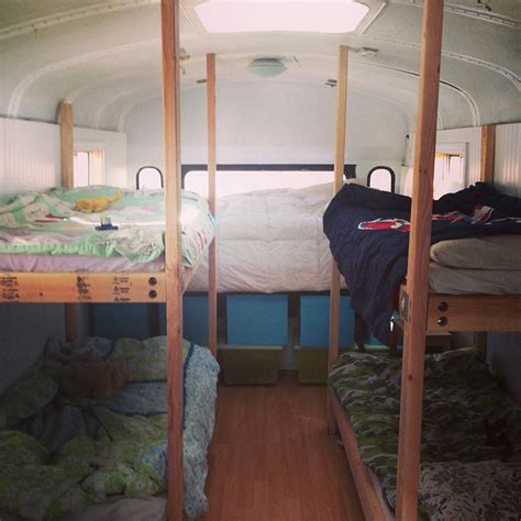 Old Bus Converted Into Awesome Tiny House For Family Of 6 Tiny House Bunk Beds