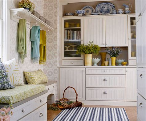 beadboard cabinets cottage laundry room bhg