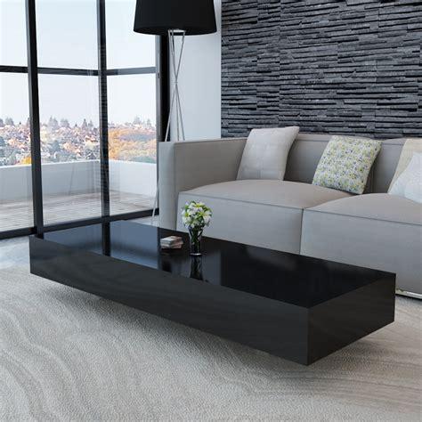 coffee table high gloss vidaxl co uk black high gloss coffee table 115 cm