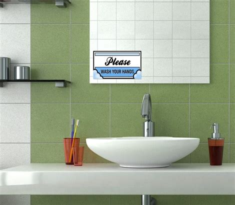 Mirror Stickers Bathroom Mirror Decals Mirror Clings Signazon