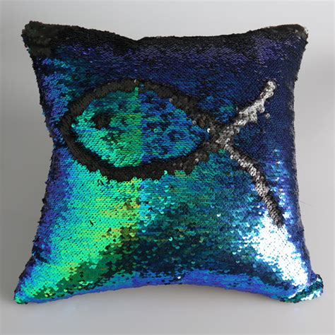 color changing pillow home decor cushion cover decorative pillowcasemermaid
