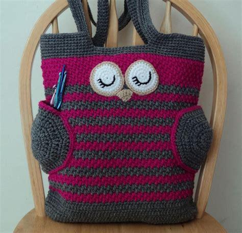 pinterest pattern tote bag crochet tote bag patterns owl tote bag by karla sandoval