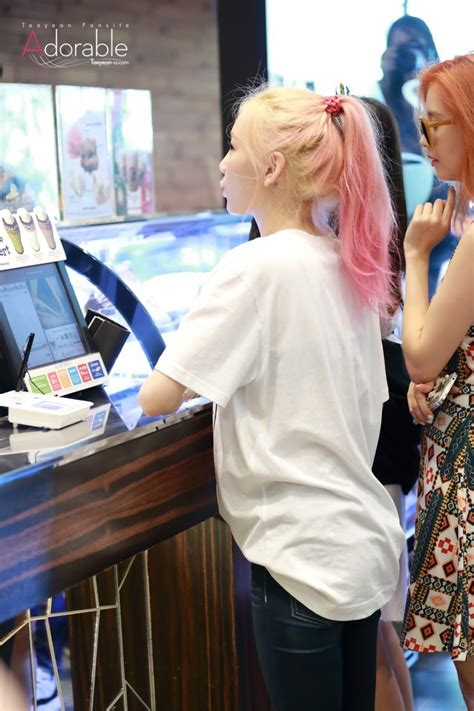 taeyeon has a tattoo on the back of her left ear kpopmap