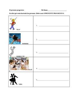 Present Progressive Worksheets