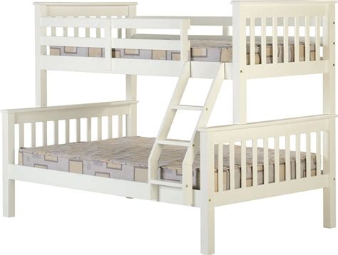 triple sleeper bunk bed neptune triple sleeper white bunk study beds