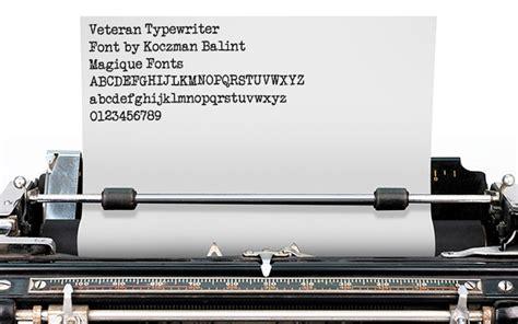 dafont typewriter veteran typewriter font dafont com