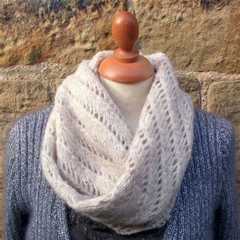 free knitting pattern for a snood scarf free snood pattern rowan lazy lace snood knit